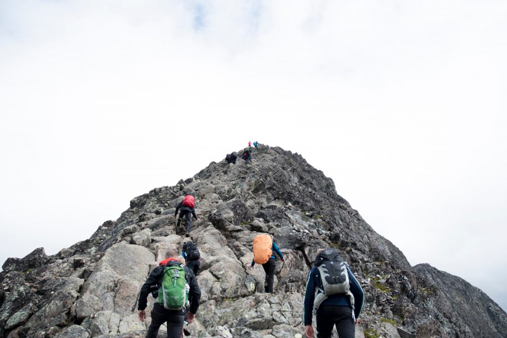 Neues Lernen ist wie Bergsteigen, hart aber lohnenswert!